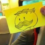 【画像】周りの乗客の顔を漫画キャラに置き換えて通勤の暇つぶし