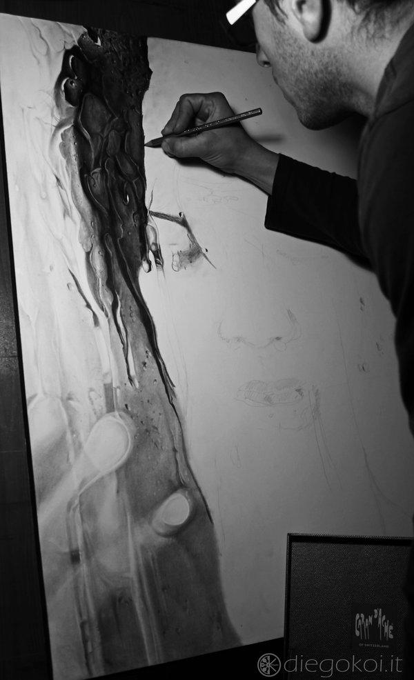 鉛筆肖像画2-2