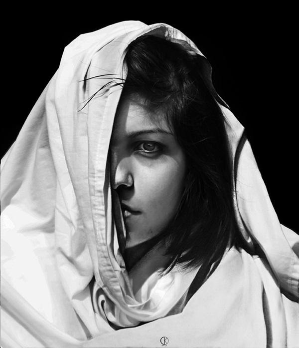 鉛筆肖像画3