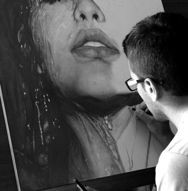鉛筆肖像画5-5