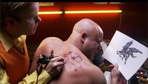 タトゥー失敗