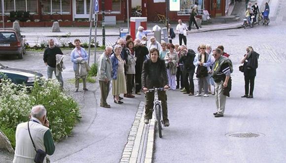 ノルウェー 自転車エスカレーター1