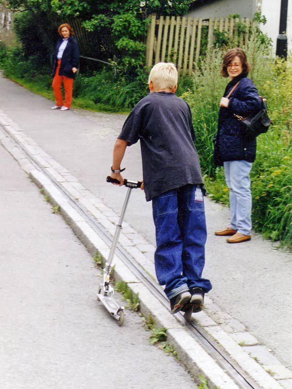 ノルウェー 自転車エスカレーター6