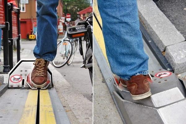 ノルウェー 自転車エスカレーター2