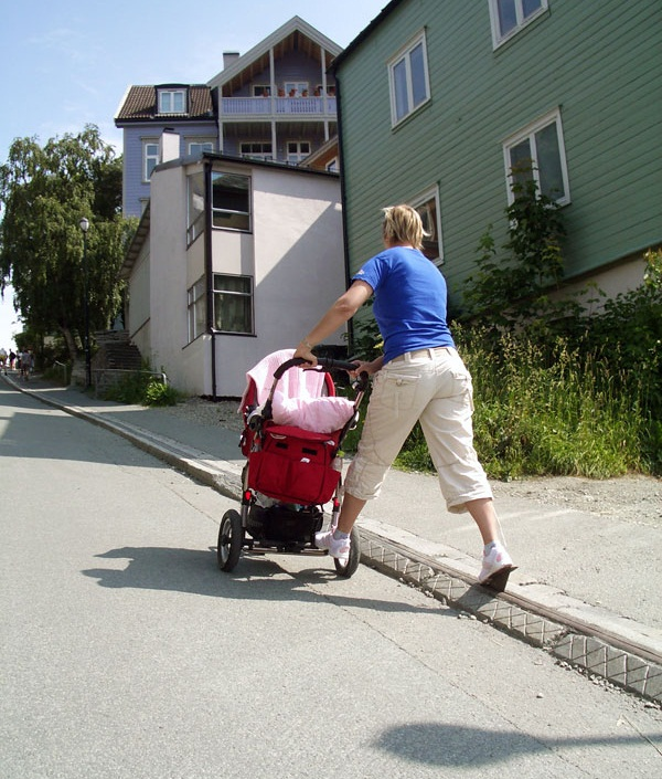 ノルウェー 自転車エスカレーター4