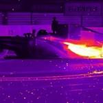 【動画】F1レースカーのドーナツターンを赤外線カメラでみるとすごい!