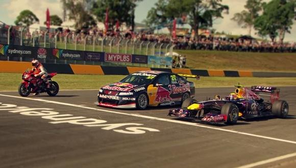F1対スーパーカー対バイク
