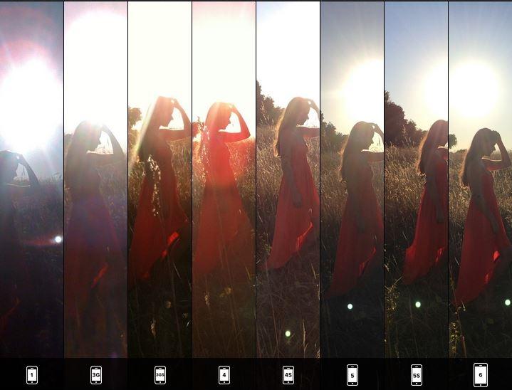 iphone6 カメラ機能 比較 逆光