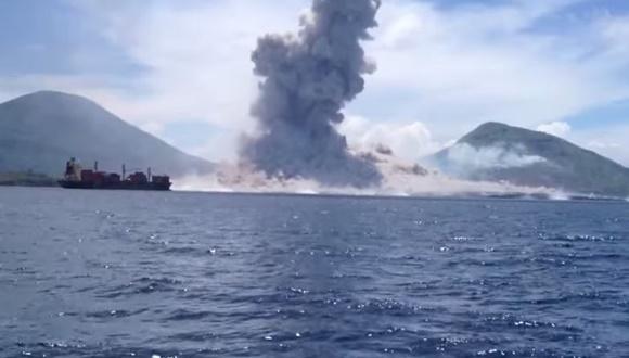 パプアニューギニア 噴火 動画