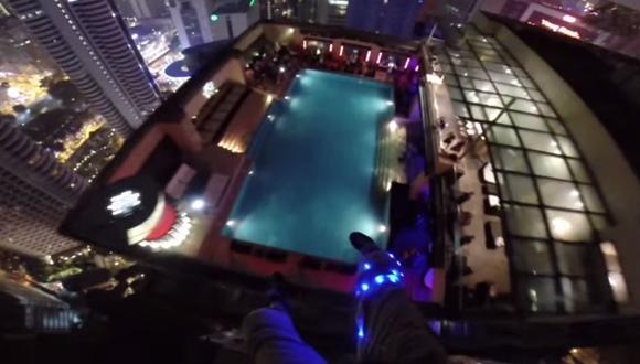 ベースジャンプ プール