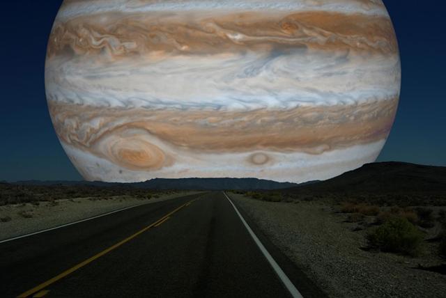 木星 月と同じ距離だったら