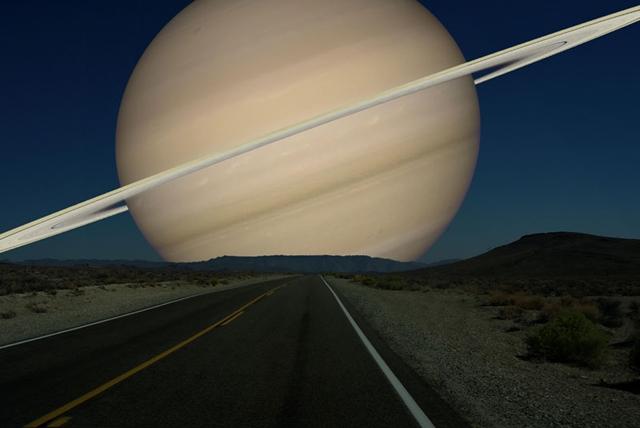土星 月と同じ距離だったら