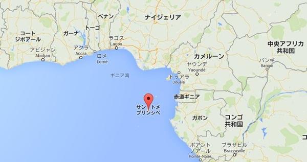 サントメ・プリンシペ 地図