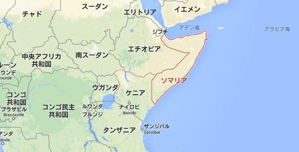 ソマリア 地図
