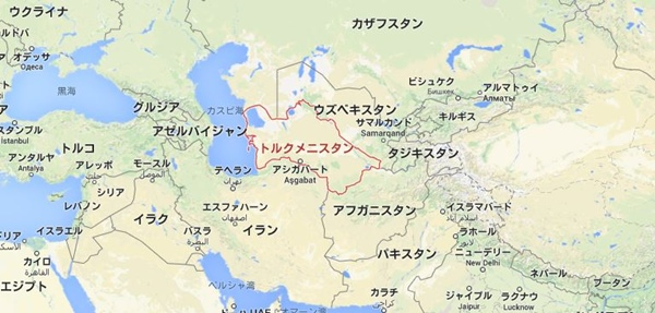 トルクメニスタン 地図