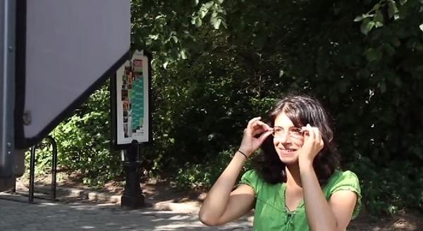 紫外線カメラ 顔 UVカットメガネ1