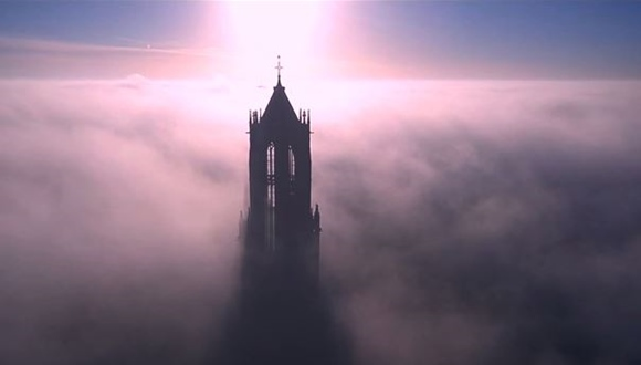ユトレヒト大聖堂の塔 空撮