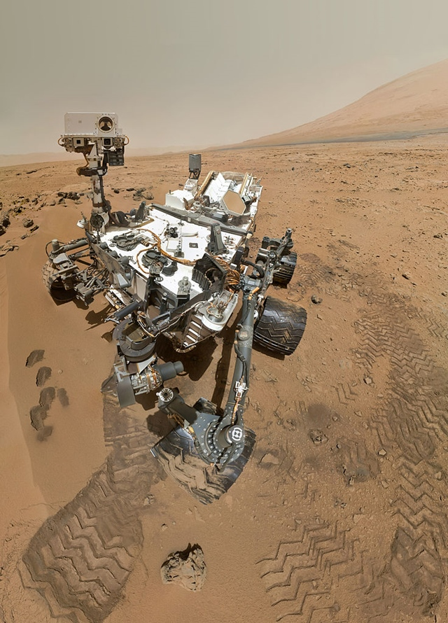 火星で自分撮り
