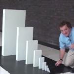 【動画】ドミノは1.5倍のサイズのドミノを押し倒せるらしい