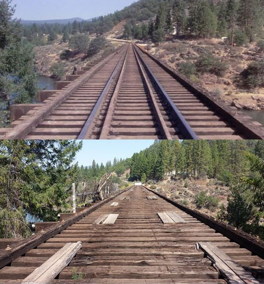 スタンド・バイ・ミー ロケ地 当時と今 鉄道橋1