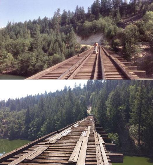 スタンド・バイ・ミー ロケ地 当時と今 鉄道橋2