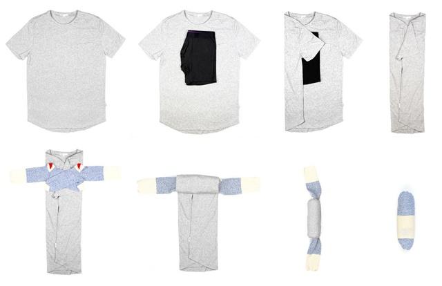 Tシャツをコンパクトに 5