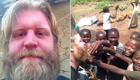 初めて白人を見たコンゴの子供たち