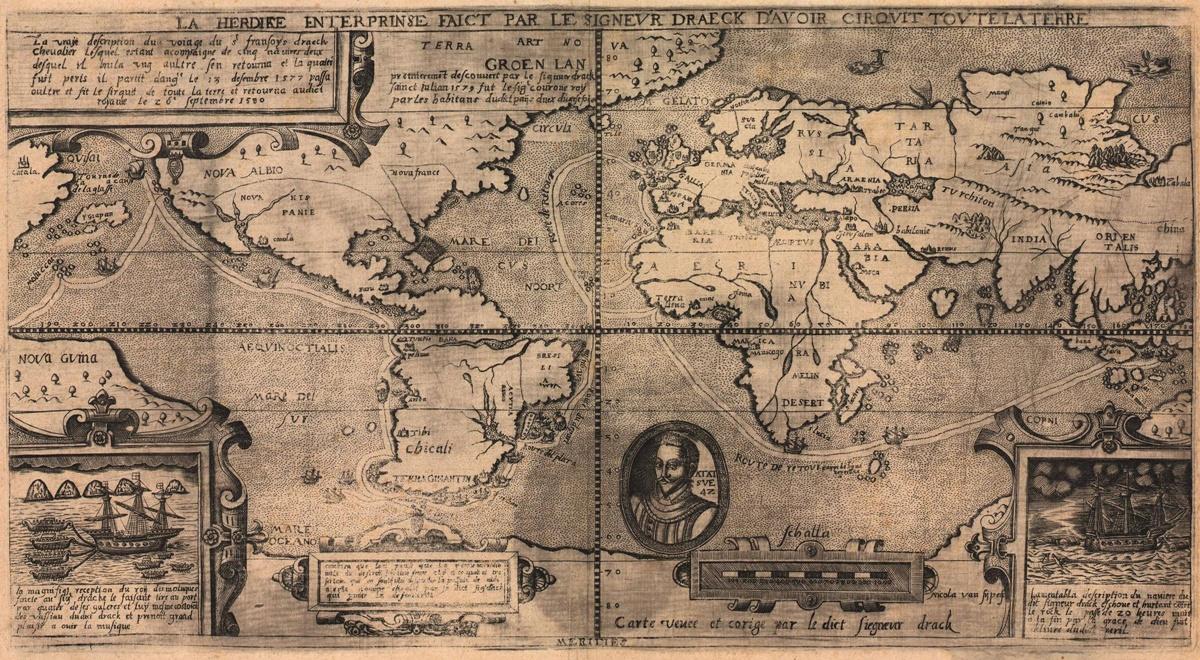 世界地図 1581年