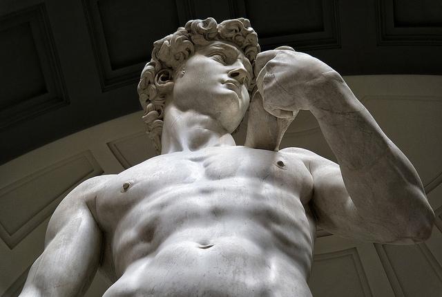 ミケランジェロ ダビデ像 上半身