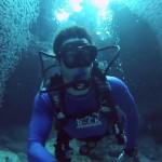 【動画】まるで『ニモ』の世界!!光り輝く魚のトンネルを抜けてダイビング