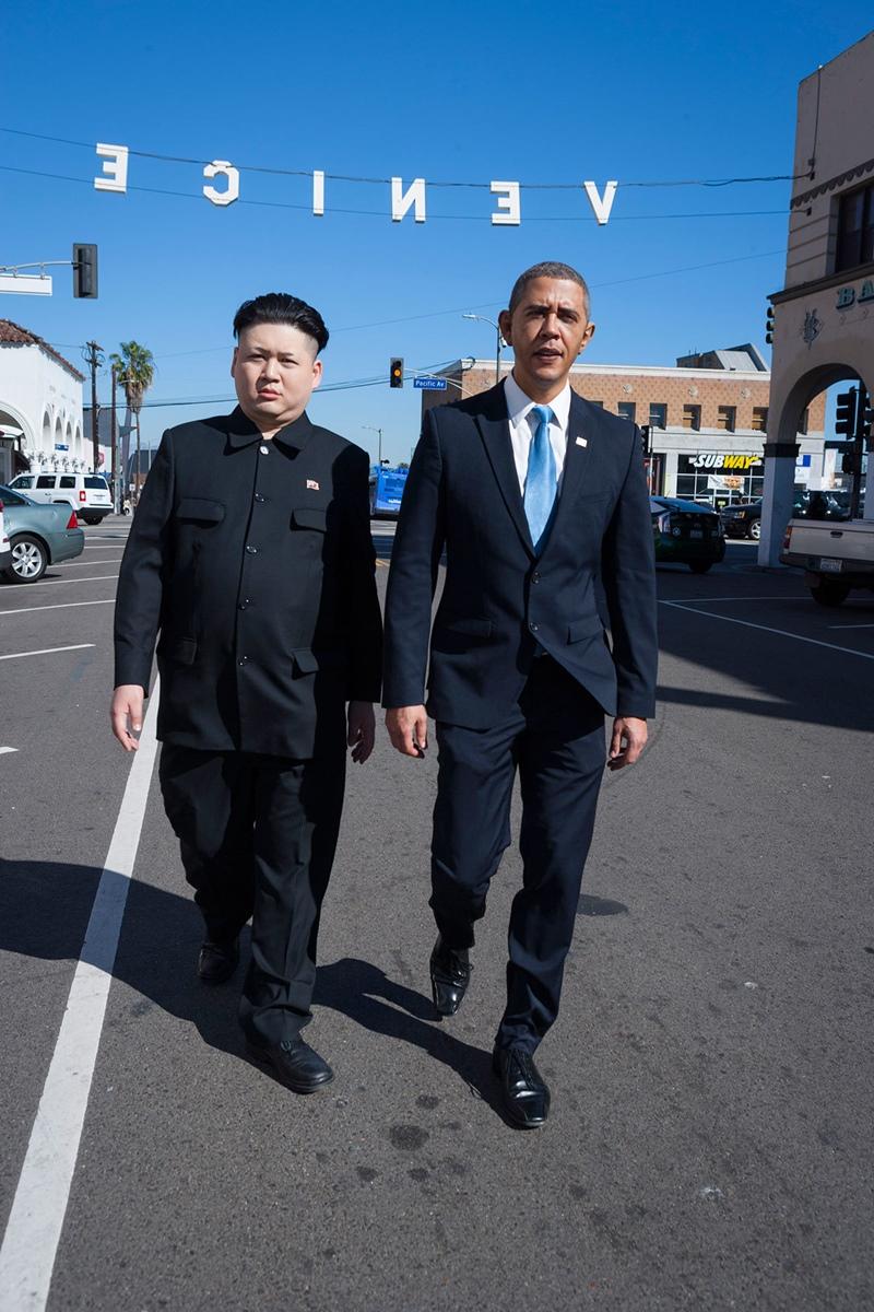 オバマ 金正恩 そっくりさん ベニスビーチ