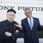 オバマ大統領とキムジョンウン第1書記のそっくりさんがLAの街でデート
