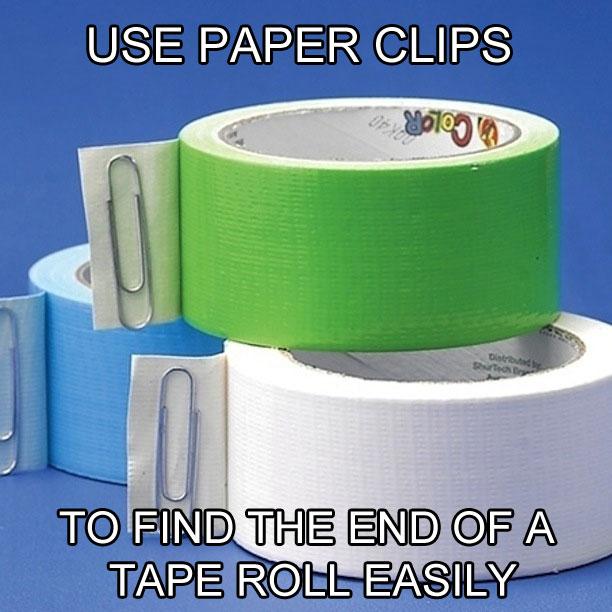 ライフハック ペーパークリップ テープ