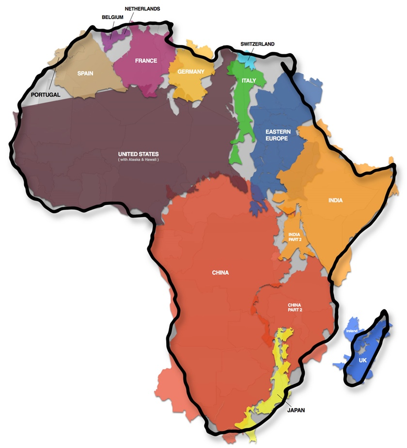 アフリカ 大きさ 地図