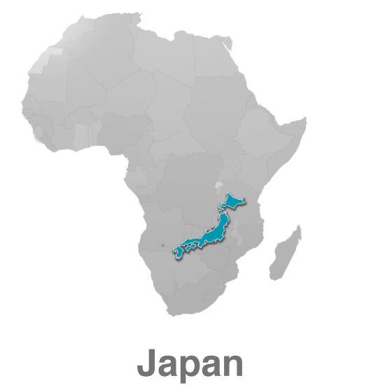 アフリカ 大きさ 日本