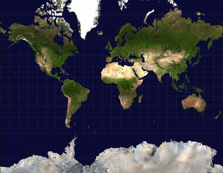 メルカトル図法 世界地図
