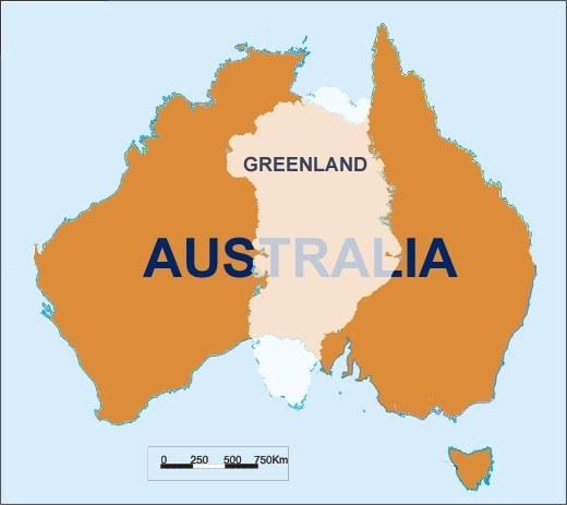 グリーンランド 実際の大きさ