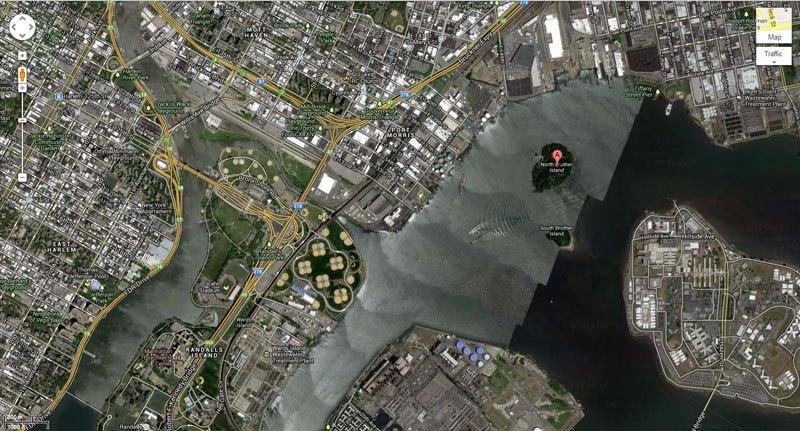 ノース・ブラザー島 廃墟島 地図