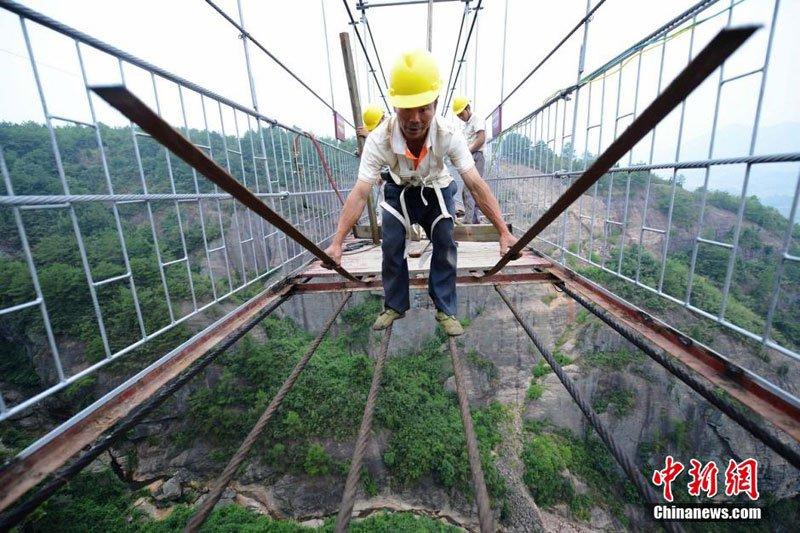 中国 ガラス橋3