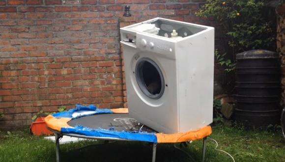 洗濯機 トランポリン
