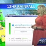 【放送事故】天気予報の生放送中に「Windows 10に無償アップグレードしませんか?」