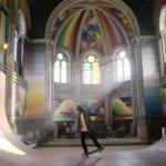 【画像】築100年の教会をリフォームした幻想的なスケートパーク「Kaos Temple」
