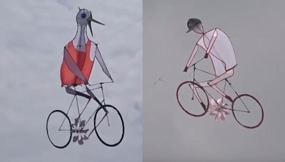 自転車 凧