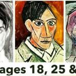 パブロ・ピカソの自画像: 15歳から90歳まで