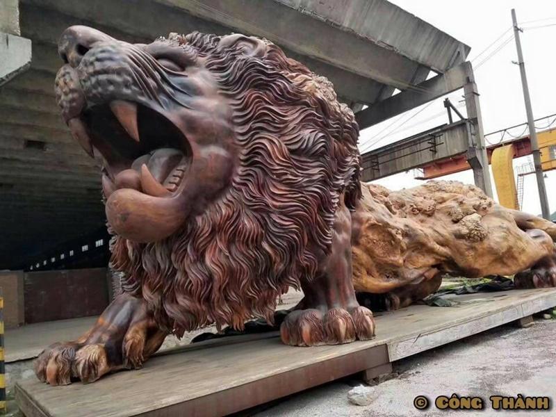 獅子 彫刻4