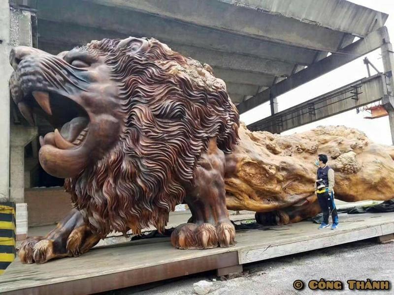 獅子 彫刻3