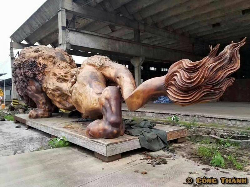 獅子 彫刻1