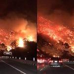 【動画】山火事のLA、通勤路がまるで地獄のように