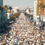 LAの「BLACK LIVES MATTER」デモをドローンで空撮した映像が圧巻